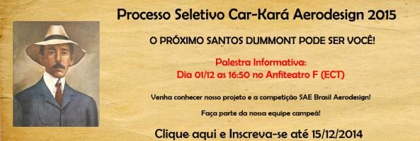 Processo Seletivo Car-Kará Aerodesign 2015